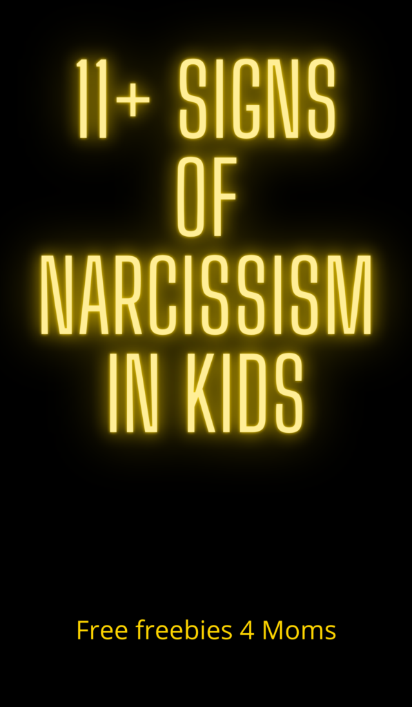 Signs Of Narcissism In Kids